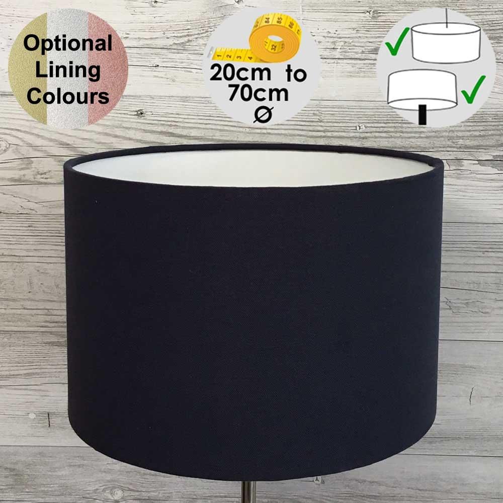 Aura Black Drum Table Lampshade